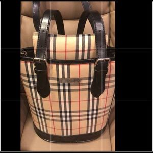 Burberry print bag with purse